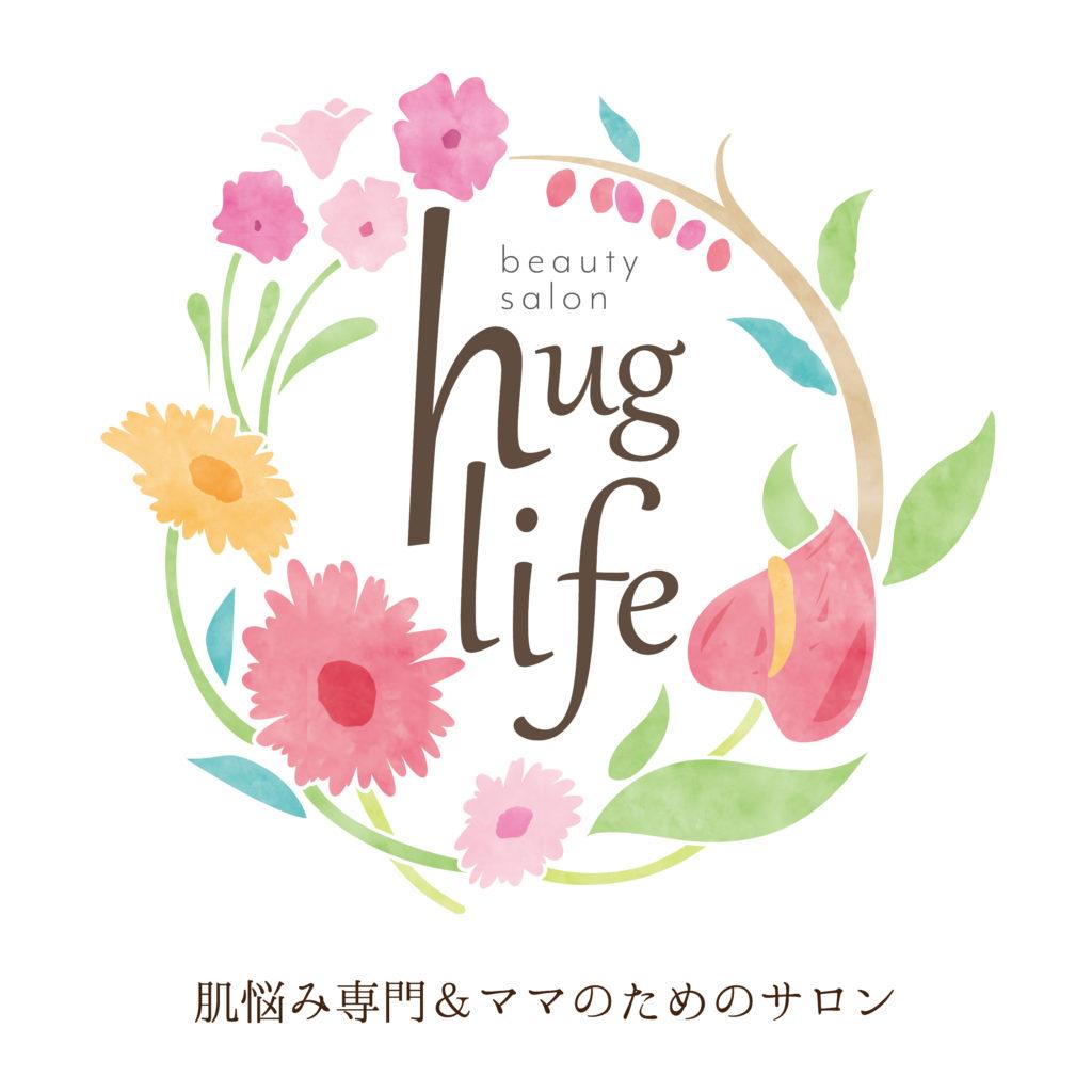 長岡市地蔵 huglife beauty salon様 ロゴマーク